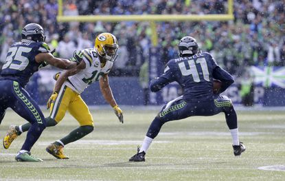 Seattle Seahawks cornerback Byron Maxwell during a game against the Packers.