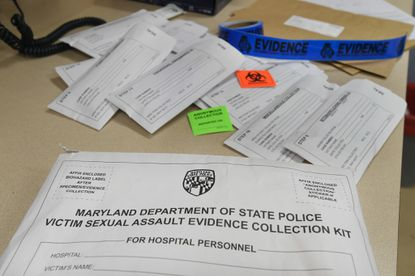 A sample of Maryland State Police's Victim Sexual Assault Evidence collection kit. (Baltimore Sun, Kenneth K. Lam)