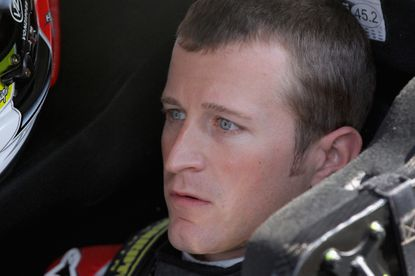 Kasey Kahne sits in his car on June 6.