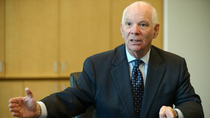 Maryland Sen. Ben Cardin meets with the Baltimore Sun Opinion and Editorial board to announce his opposition to the Iran nuclear treaty backed by the White House.