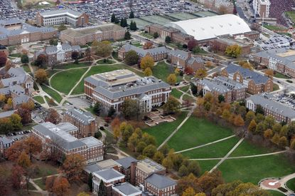 An aerial view of the University of Maryland campus in College Park, Maryland. File. A recent survey of state salaries found many top earners at the school but few of them women.