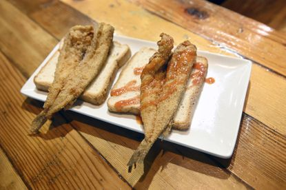 Fried lake trout, which is actually whiting, is a quintessential Baltimore dish. Keyia Yalcin, owner of Fishnet restaurant, pays homage to another Black woman business owner the late Doris Williams by donating $2 from every lake trout dish sold in October to Just Call Me Chef to support other black restaurateurs.