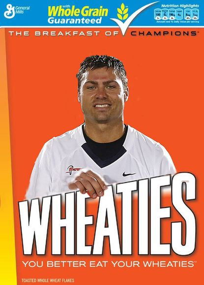 Lacrosse All-Star Rob Pannell is one of five athletes who could be the first publicly voted to appear on the front of the Wheaties box. So we took a quick stab at what that might look like.