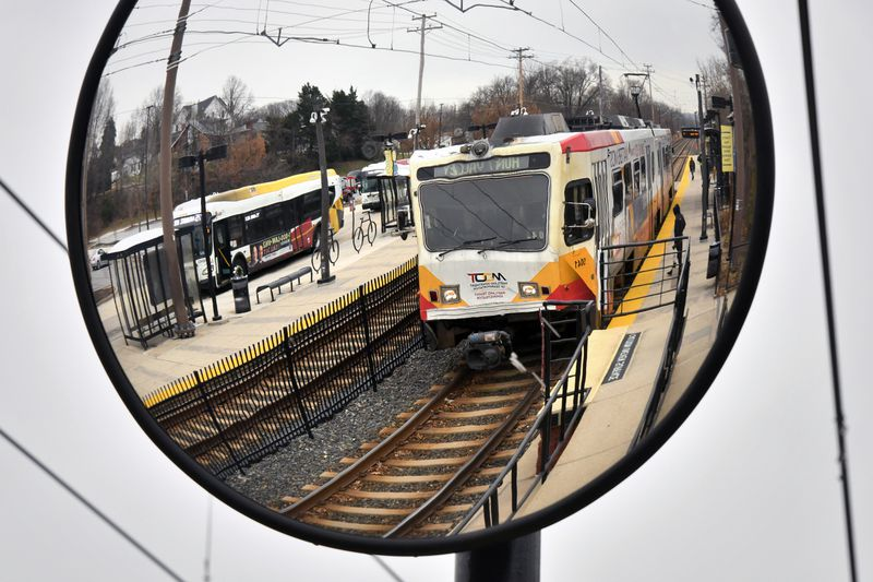 At the Patapsco Light Rail Station, riders can connect between the light rail line and buses. The Maryland General Assembly will take up the proposed Transit Safety and Investment Act this session. Jan 11, 2021. p2
