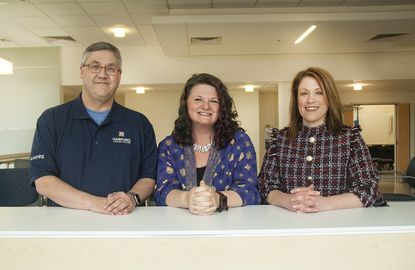 Three Harford Community College employees — Richard Smith, Caitlin White and Debbie Dorsey, pictured left to right — have been named recipients of the 2020 National Institute for Staff and Organizational Development (NISOD) Excellence Awards.