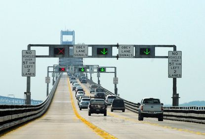 The Bay Bridge is busy on spring and summer weekends as motorists travel to Ocean City.