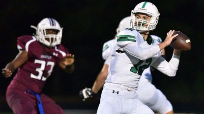Arundel's Ryan Sedgwick prepares to pass during a game at Annapolis High School.