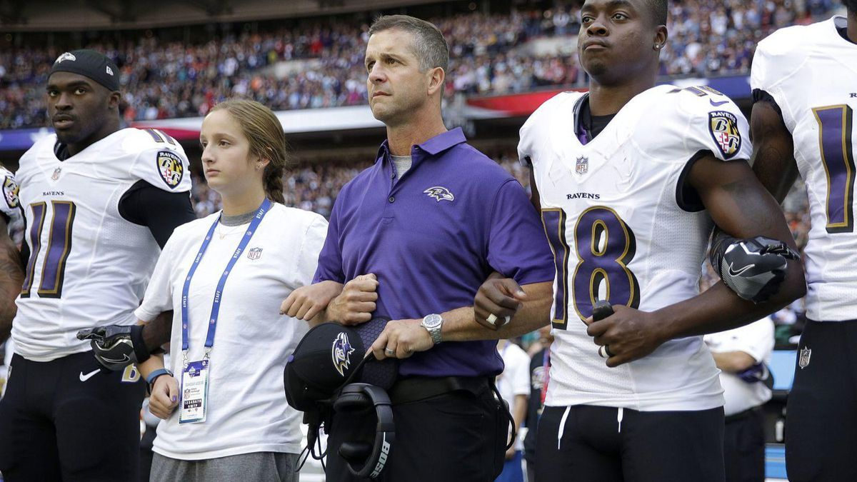f9831fcf Ravens players, Harbaugh focused more on football than new anthem ...