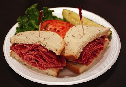 Beef Brothers' corned beef sandwich.