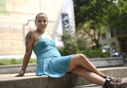 """Dani Buhl, of Westminster, has been recovering from addiction at a local recovery house. She's in the process of auditioning for a Canadian TV show, """"The Fashion Hero,"""" which celebrates different types of beauty."""
