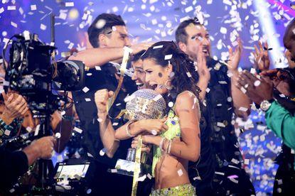 Confetti rains down as Melissa and Tony reign supreme.