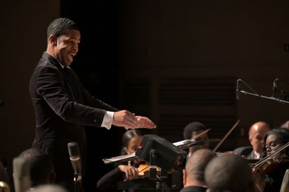 Maestro Darin Atwater conducts Soulful Symphony at Morgan State University's Murphy Fine Arts Center March 30, 2019.