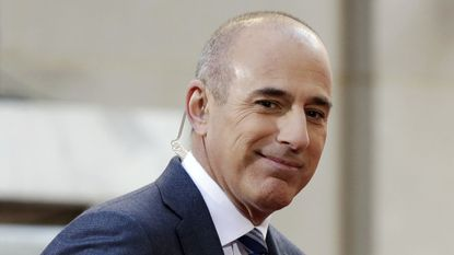 """Matt Lauer, co-host of the NBC """"Today"""" television program, appears on set in Rockefeller Plaza, in New York in 2016."""