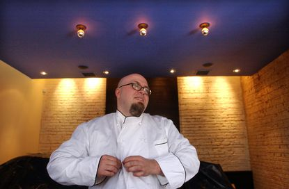 Jason Ambrose, photographed at Salt, his Upper Fells Point restaurant, shortly after its 2006 opening.