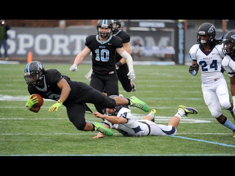 Wesley College Football >> College Football No 11 Wesley 42 No 8 Johns Hopkins 37