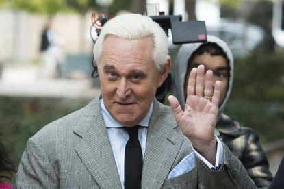 Roger Stone arrives at federal court in Washington on Nov. 7, 2019.