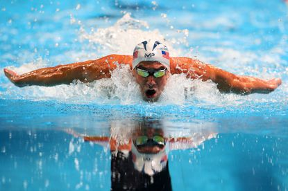 Michael Phelps of the United States competes in the final heat for the men's 100-meter Butterfly during Day Seven of the 2016 U.S. Olympic Team Swimming Trials at CenturyLink Center on July 2, 2016 in Omaha, Neb.