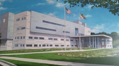 A rendering of Maryland's newest District Court building in Catonsville, which is under construction. Towson court cases will be moving temporarily to the Catonsville building when it opens because of HVAC repairs needed in the Towson District Courthouse.