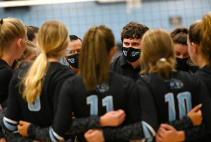 Westminster volleyball, seen in this file photo from earlier this fall, swept Winters Mill on Tuesday to stay undefeated on the season.