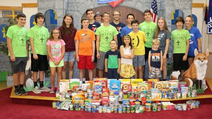 Those who participated in a free-will offering during the 2017 Vacation Bible School at Faith Lutheran are shown. Faith Lutheran is one of several Carroll County churches hosting VBS this summer.