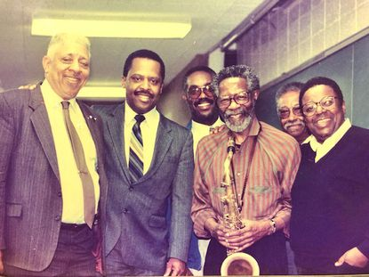 Dr. Reppard Stone (far left), pictured in 1989 at Howard University.