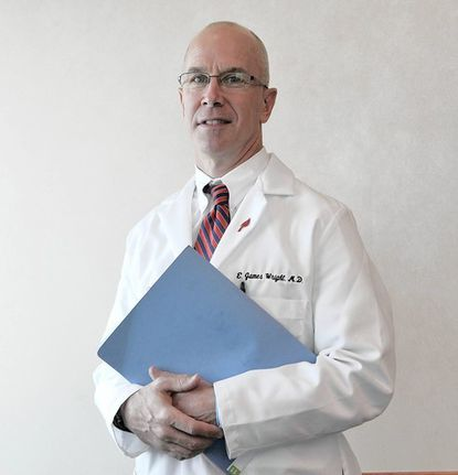 Dr. E. James Wright, is director of neurourology and chief of urology at Johns Hopkins Bayview Medical Center.