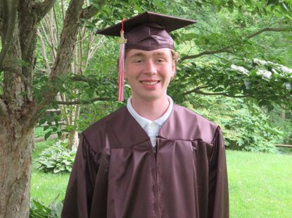 Eric Lang, a 2021 graduate of Fallston High School, overcame a rare cancer called thymoma and a related neuromuscular disorder during his senior year.