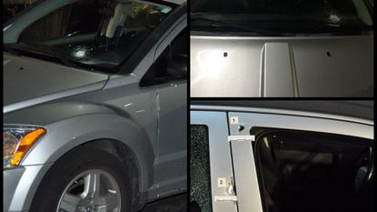 Aberdeen Police say a vehicle was fired upon Thursday evening while stopped at an intersection. The driver and her two small children were not injured, but police believe the vehicle was targeted.