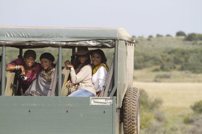 The ladies -- from left, Kandi Burruss, Phaedra Parks, Sheree Whitfield, Cynthia Bailey -- visit a South African game reserve.