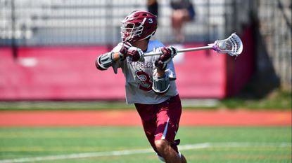 Mike Rastivo, a graduate student attackman for the Saint Joseph's men's lacrosse team, became the program's all-time leader in goals after scoring four times in Saturday's thumping of Bryant.