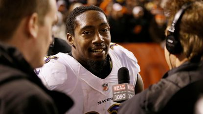 Former Ravens safety Will Hill after a 33-27 win over the Browns in November 2015.