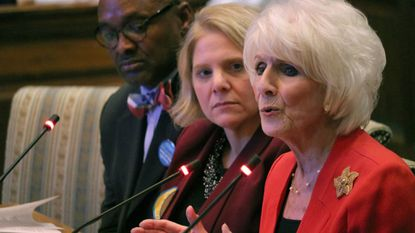 Retired radio talk show host Diane Rehm testifies Friday in Annapolis in favor of a measure that would allow terminally ill people in Maryland to end their lives with the help of doctors.