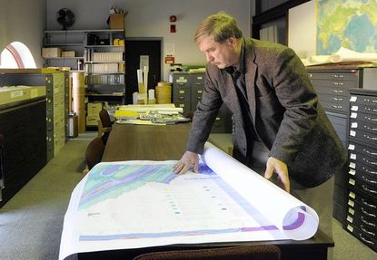 David Brezinski, Appalachian biologist for the Maryland Geological Survey, is one of the authors of the new geologic map of Garrett, Allegany and western Washington counties.