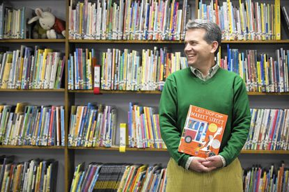Lower school librarian John Scott at Friends School in Baltimore. He was one of 15 judges nationwide on a panel that chose the winner of the Newbery Medal.