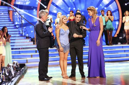 "At the end of the night, Willow Shields and Mark Ballas were sent home on ""Dancing with the Stars."""