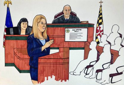 Anne Colt Leitess, Anne Arundel County State's Attorney, gives her closing augments to the jury in the trial of Jarrod Ramos who killed Wendi Winters, Gerald Fischman, John McNamara, Rebecca Smith and Rob Hiaasen.