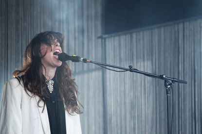 Victoria Legrand of Beach House performs live on stage at The Falls Music and Arts Festival on Dec. 30, 2012 in Lorne, Australia.