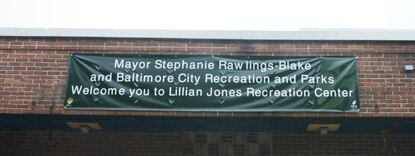 Mayor's banner flies on rec center in Sandtown, upsetting community activist