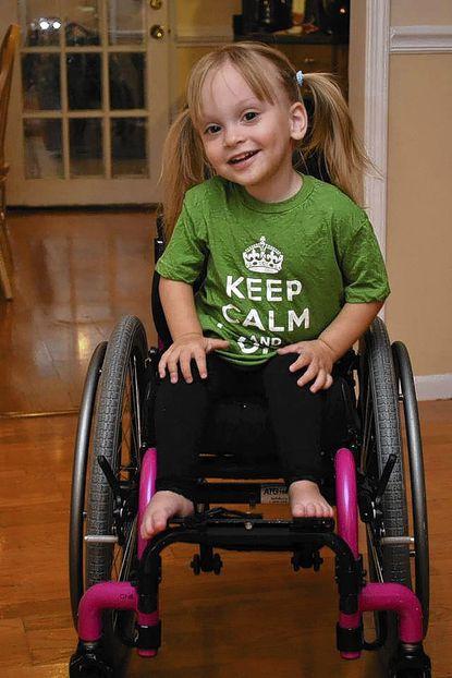 Addyson O'Donnell, 2, was born with spina bifida.