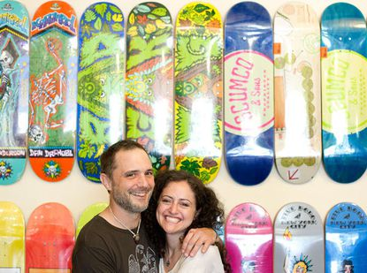 The Good Roll Shop & Gallery owners Timothy R. LeBon and his wife, Sarah R. LeBon.