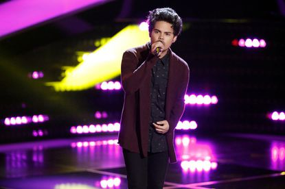 """Tim Atlas performs during """"The Voice"""" blind auditions Tuesday."""
