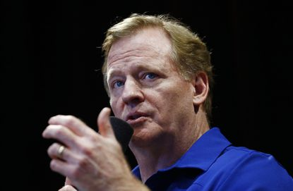 NFL Commissioner Roger Goodell reacted today to President Trump's comments about the league Friday night in Alabama.