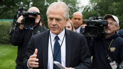 Peter Navarro, top trade advisor to President Trump, after speaking to news media at the White House on June 4.