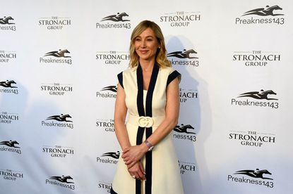 Belinda Stronach, chairman and president of The Stronach Group, on the red carpet at the 143rd Preakness at Pimlico Race Course. After being sued by her father, Stronach Group founder Frank Stronach, she rejected his claims she was mismanaging the company's finances.