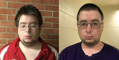 Matthew Curtis, at left, and Tyler Curtis, of Hampstead have been charged with possessing child pornography, according to Maryland State Police.