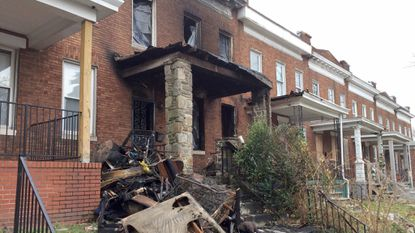 A man died in a fire in Northeast Baltimore before dawn Wednesday morning, the Fire Department said.