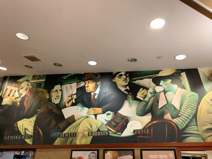 Mural in Ellicott City, Md., Barnes and Noble has no writers of color.