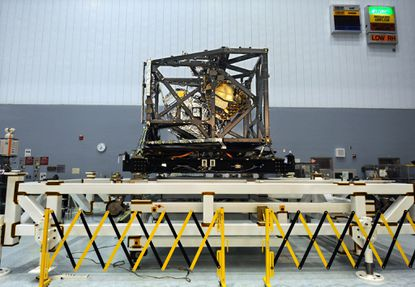 The Integrated Science Instrument Module (ISIM), center, is part of the James Webb Space Telescope.