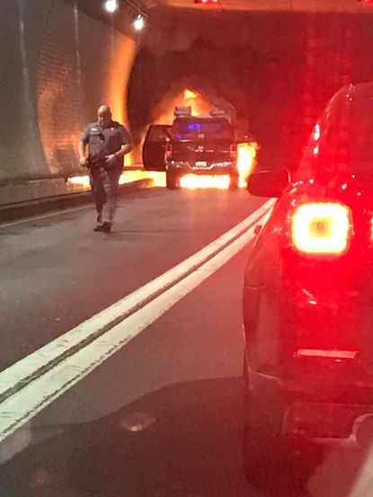 Car fire in Fort McHenry Tunnel causes major rush hour delays
