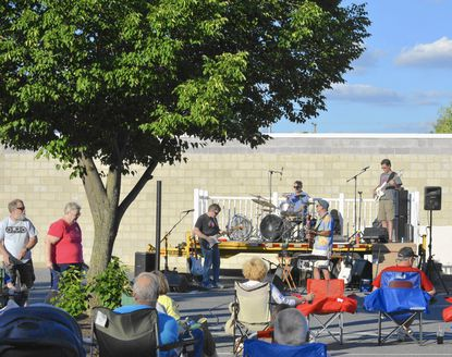 Outta the Blue plays at the start of last year's Frederick Road Fridays concert series. The band will kick off the 2015 season of free music in the parking lot off Mellor Avenue on Friday, June 12.
